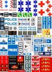 Lego City - Matrica - rendőr tűzoltó mentő