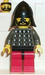 Lego cas029 - Fright Knights - Knight 3, Red Legs with Black Hips, Black Neck-Protector