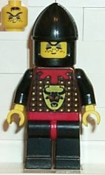 Lego cas044 - Knights' Kingdom I - Robber 2, Black Chin-Guard