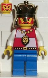 Lego cas060a - Royal Knights - King, with Blue Legs without Cape and Plume