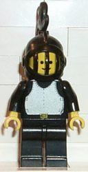 Lego cas177 - Breastplate - Black, Black Legs, Black Grille Helmet, Black Plume