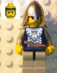 Lego cas360 - Fantasy Era - Crown Knight Scale Mail with Crown, Helmet with Neck Protector, Black Messy Hair and Stubble
