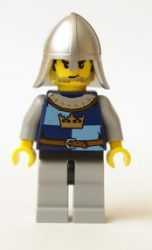 Lego cas366 - Fantasy Era - Crown Knight Quarters, Helmet with Neck Protector, Black Messy Hair and Stubble