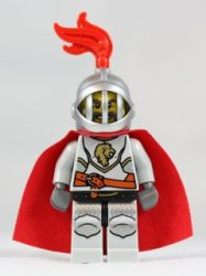 Lego cas459 - Kingdoms - Lion Knight Breastplate with Lion Head and Belt, Helmet with Fixed Grille, Cape