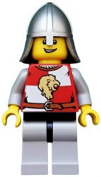 Lego cas501 - Kingdoms - Lion Knight Quarters, Helmet with Neck Protector, Open Grin