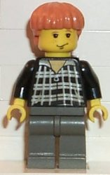 Lego hp032 - Ron Weasley, Black and White Plaid Shirt