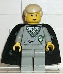 Lego hp040 - Draco Malfoy, Slytherin Torso, Black Cape with Stars