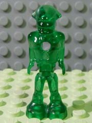 Lego mm001 - Mars Mission Alien with Marbled Glow In Dark Torso