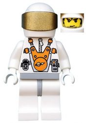 Lego mm003 - Mars Mission Astronaut with Helmet and Messy Hair and Stubble
