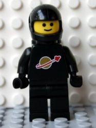Lego sp003new - Classic Space - Black with Airtanks and Modern Helmet (Reissue)