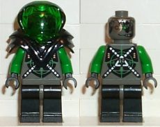Lego sp027 - Insectoids - green verniers w/ silver X pattern, Black Armor