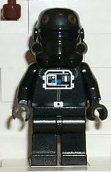 Lego sw035 - TIE Fighter Pilot (Brown Head)