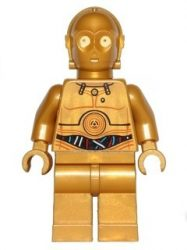 Lego sw365 - C-3PO - Colorful Wires Pattern (9490)